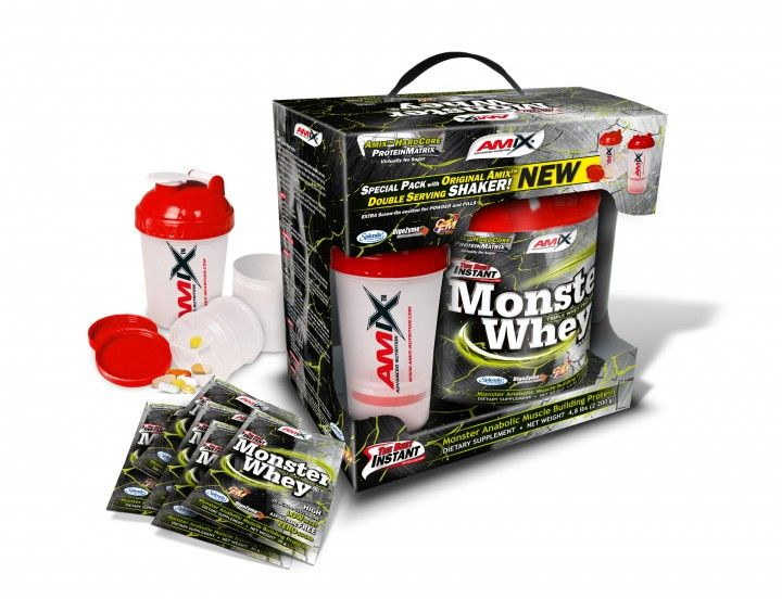 AMIX Anabolic Monster Whey 2200 g - strawberry banana
