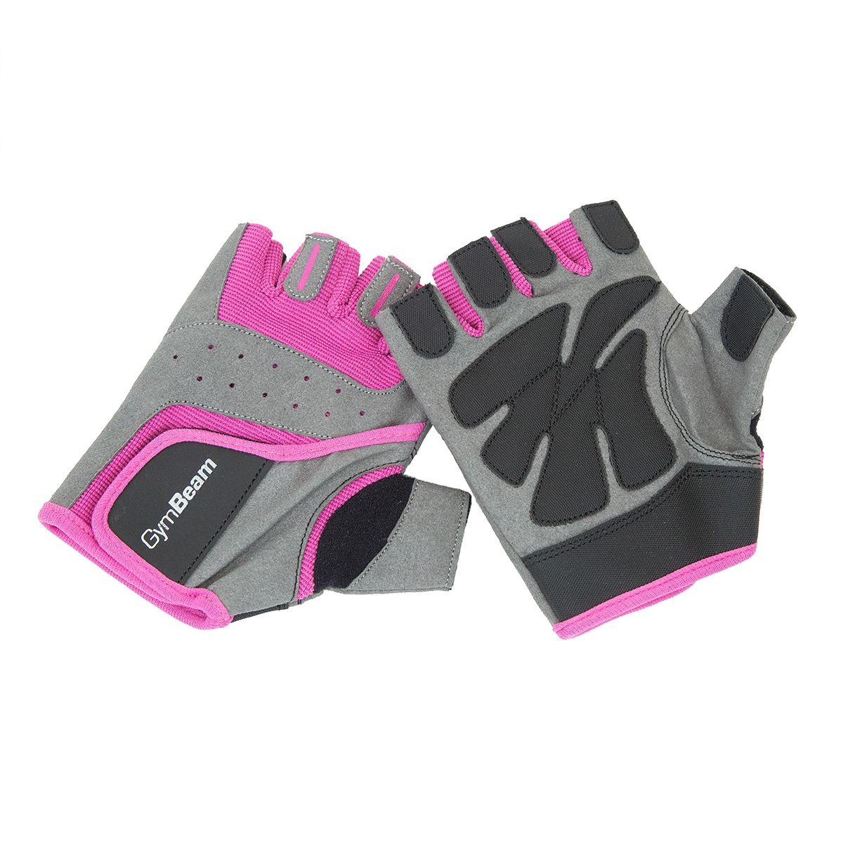 Fitness Dámske rukavice sivo-ružové - GymBeam - XS