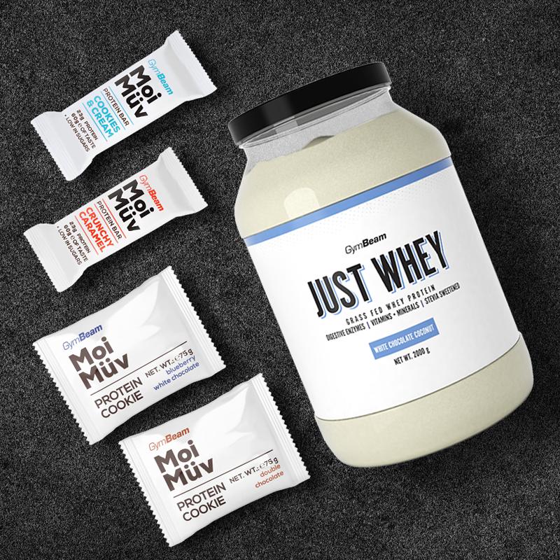 Protein Just Whey 1000 g bílá čokoláda kokos - GymBeam