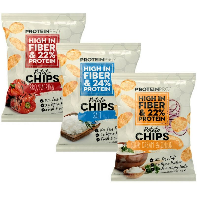 ProteinPro Potato Chips 50 g - salt