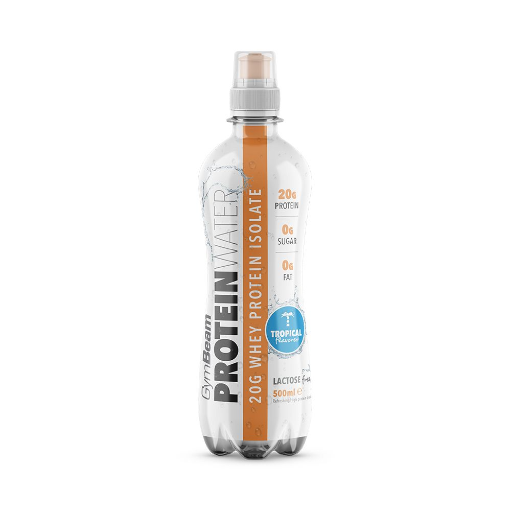 GymBeam Protein Water 500 ml - tropical