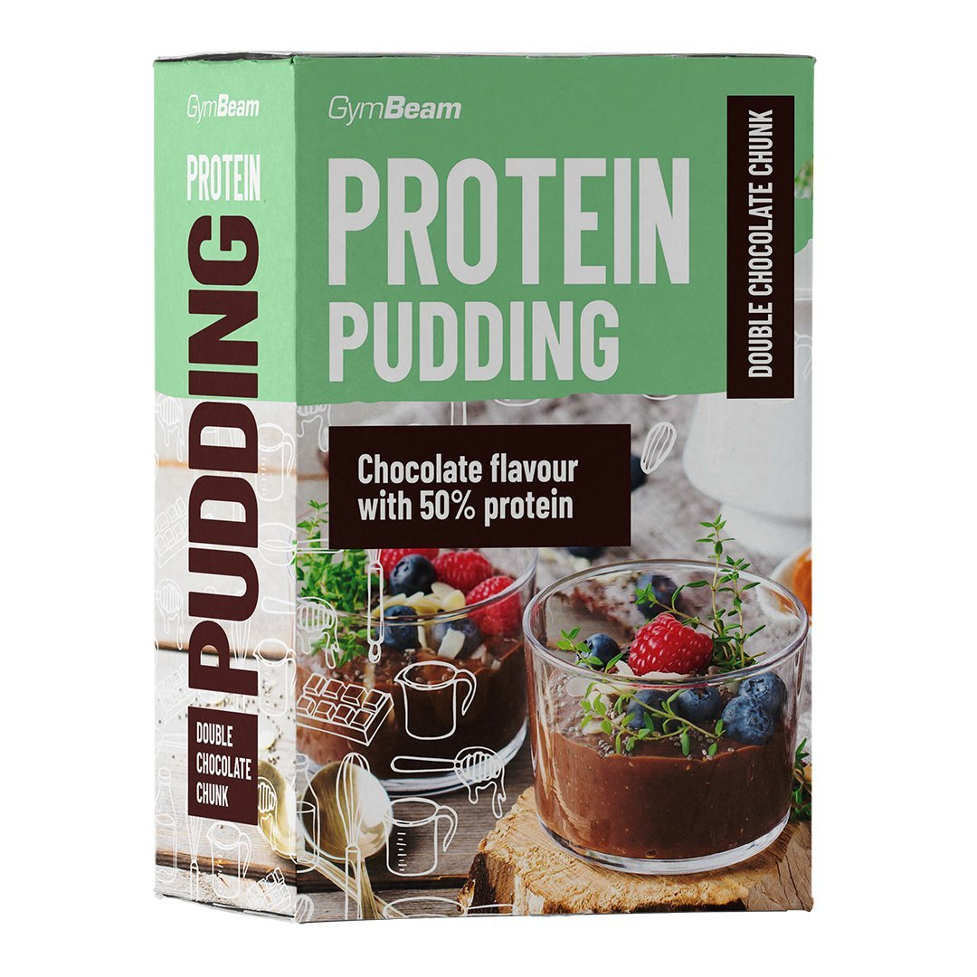 GymBeam Protein Pudding 500 g - double chocolate chunk