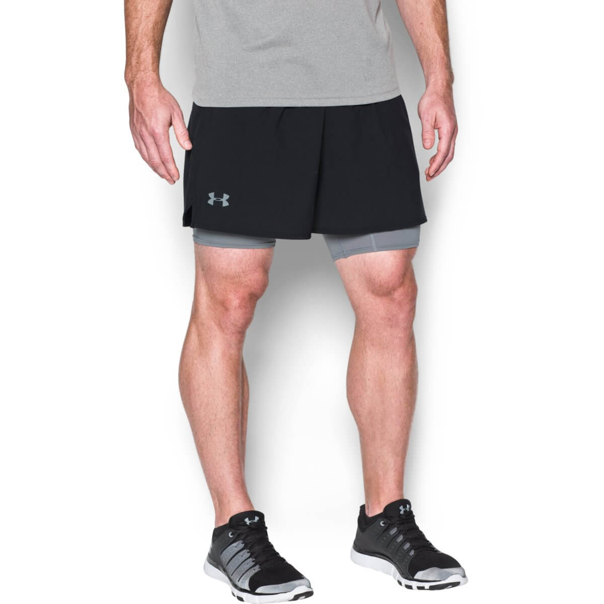 Šortky Qualifier 2-in-1 Short Black - Under Armour