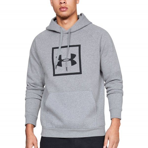 Under Armour Mikina Rival Fleece Logo Hoodie Grey