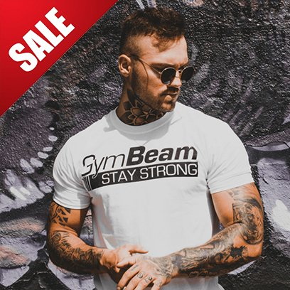 Gymbeam Tričko Stay Strong White  S