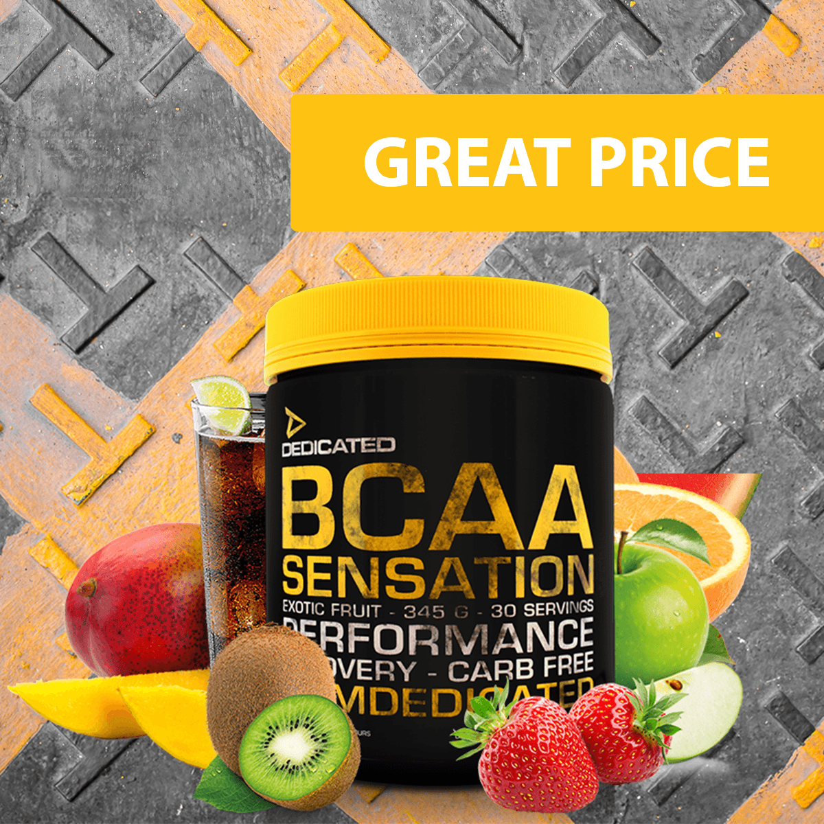 Dedicated BCAA Sensation 345 g - watermelon