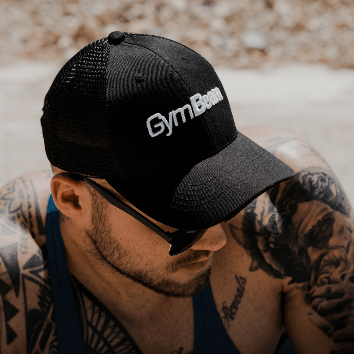 Kšiltovka Mesh Panel Cap Black - GymBeam