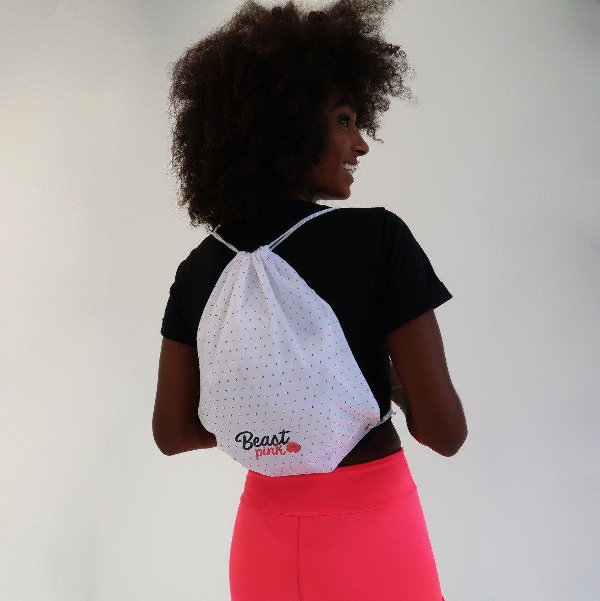 Taška String Bag White - BeastPink