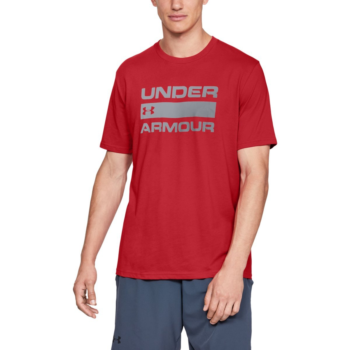 Tričko Team Issue Wordmark SS Red - Under Armour - S