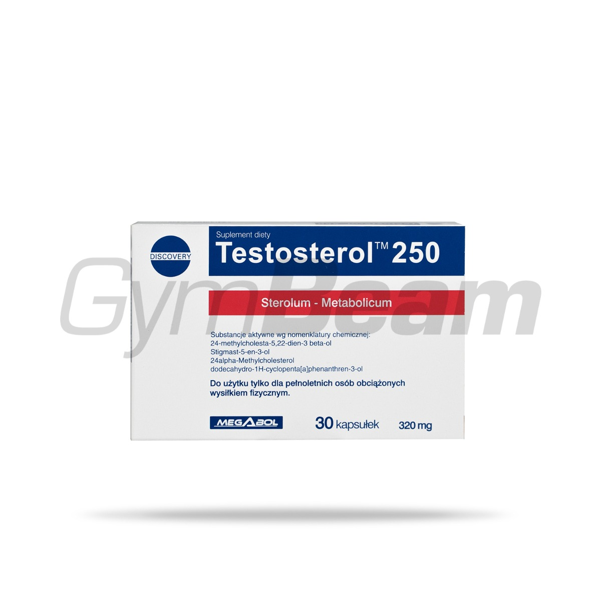 Testosterol 250 30 caps bez příchuti - Megabol