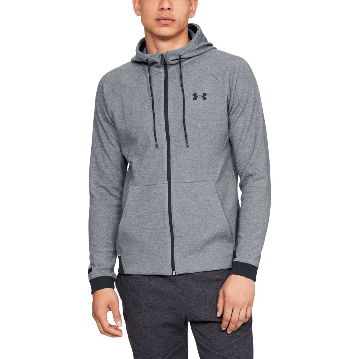 Mikina Unstoppable 2X Knit Fz Grey - Under Armour