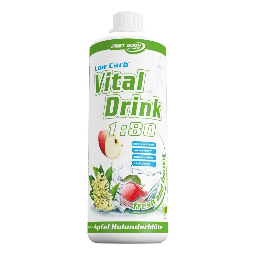 Best Body Nutrition Low Carb Vital Drink 1:80 1000 ml - blackcurrant