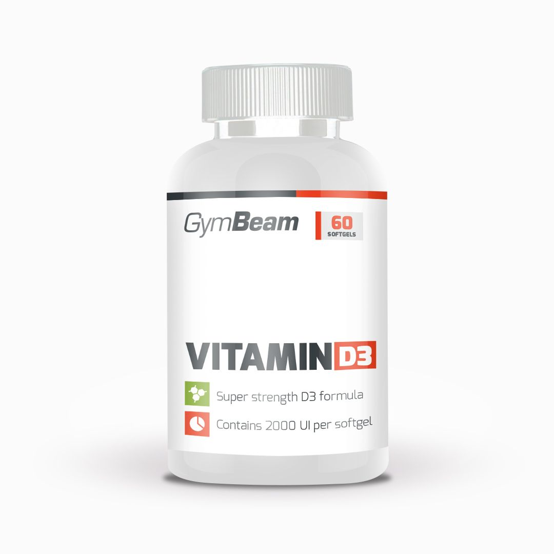 GymBeam Vitamin D3 2500 IU 60 kaps