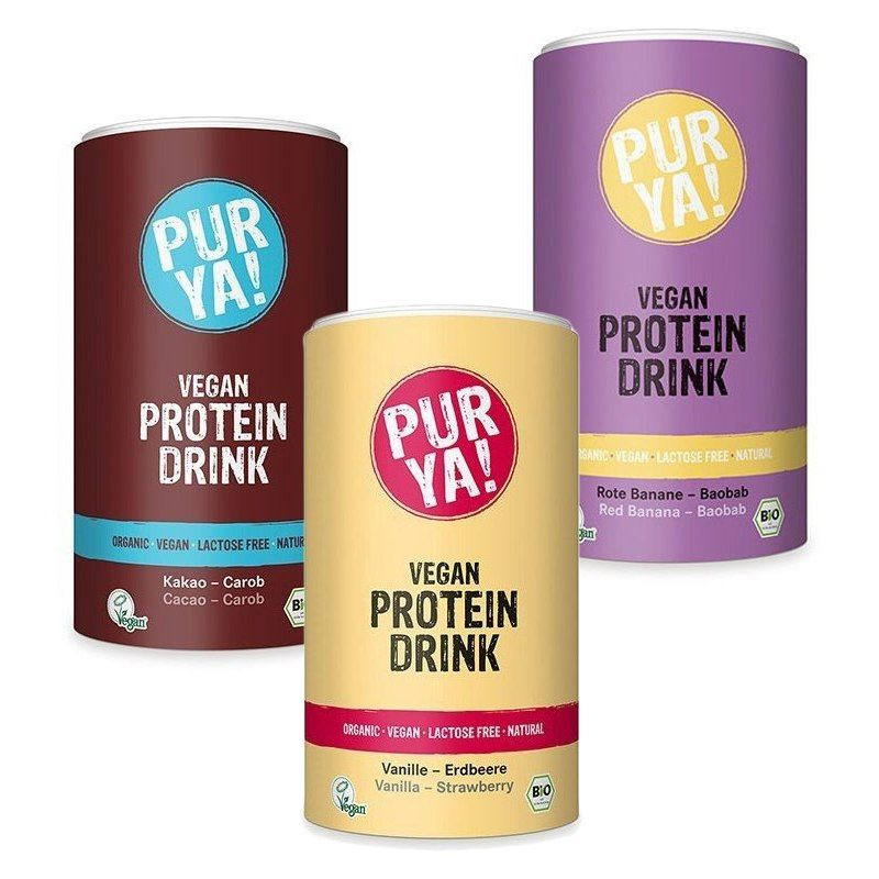 PUR YA! Vegan Protein Drink BIO 550 g - vanilla strawberry