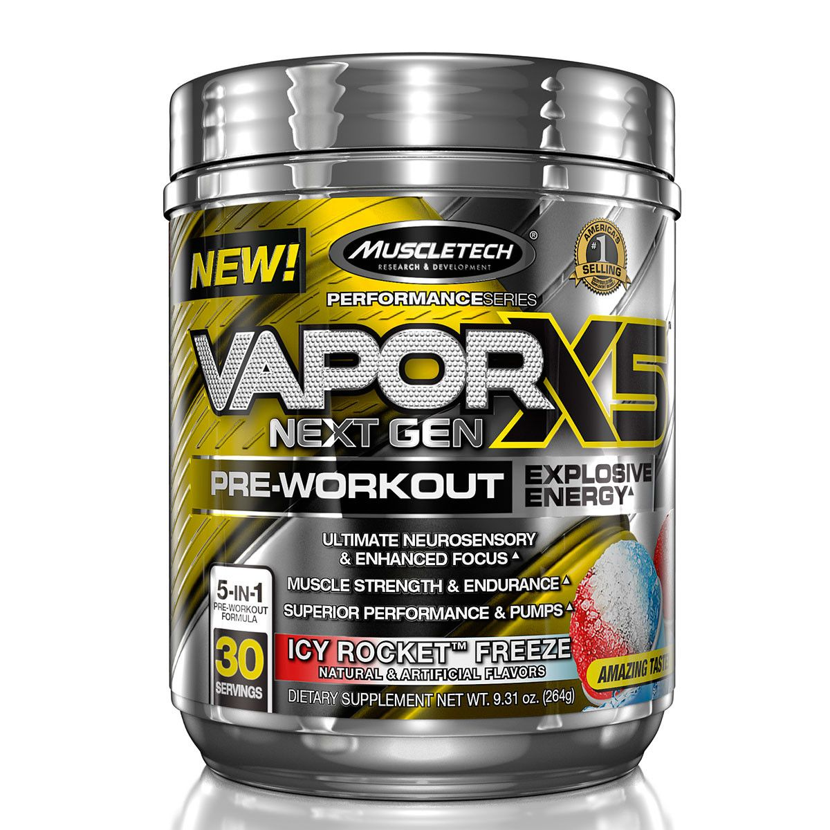 MuscleTech Vapor X5 Next Gen 232 g - fruit punch blast