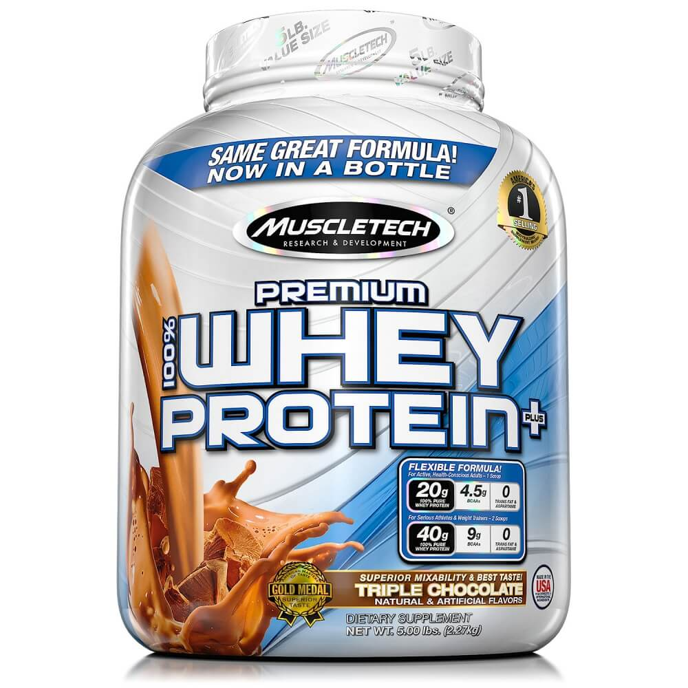 MUSCLETECH 100 Premium Whey Protein Plus 2720 g - chocolate