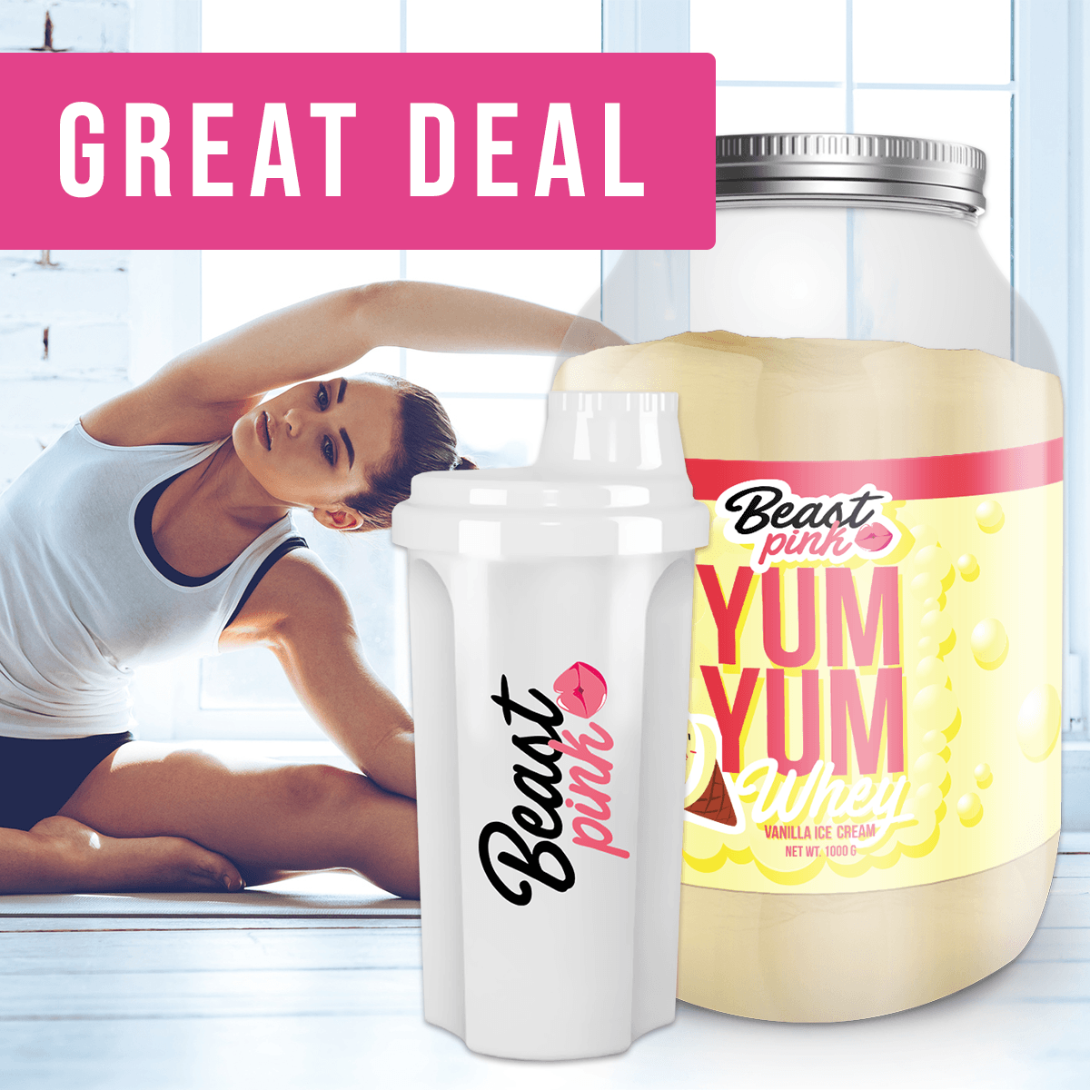 BeastPink Yum Yum Whey 1000 g - chocolate hazelnut