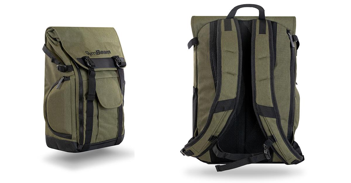 Batoh Adventure Military Green - GymBeam