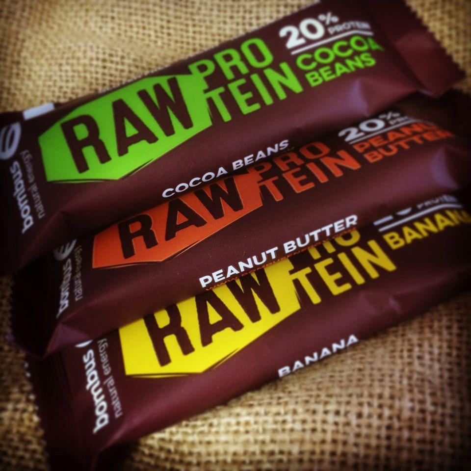 Proteinová tyčinka Raw Protein 50 g - Bombus