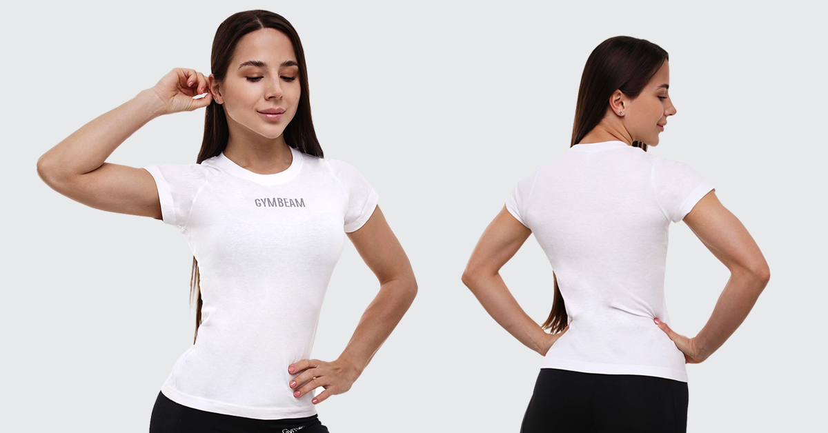 Dámské tričko FIT White - GymBeam