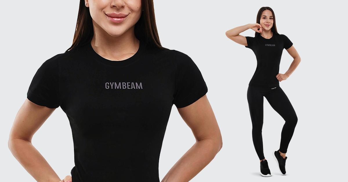 Dámské tričko FIT Black - GymBeam