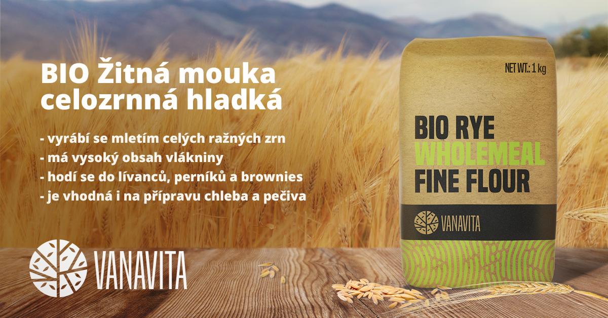 BIO Žitná mouka celozrnná hladká - Vanavita