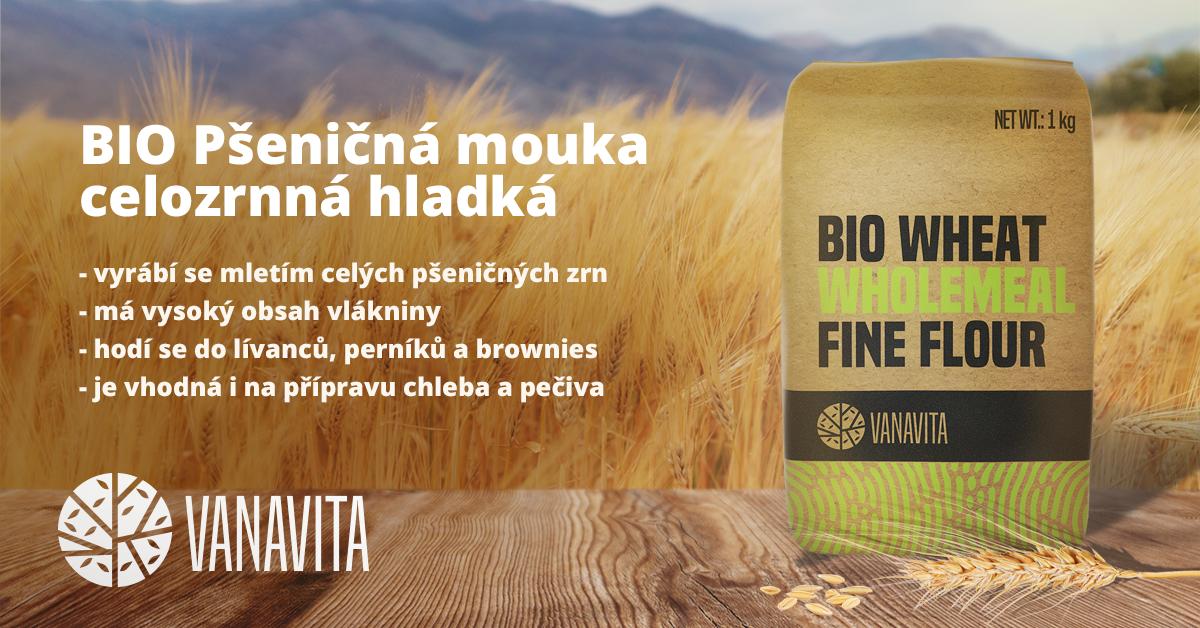 BIO Pšeničná mouka celozrnná hladká - VanaVita