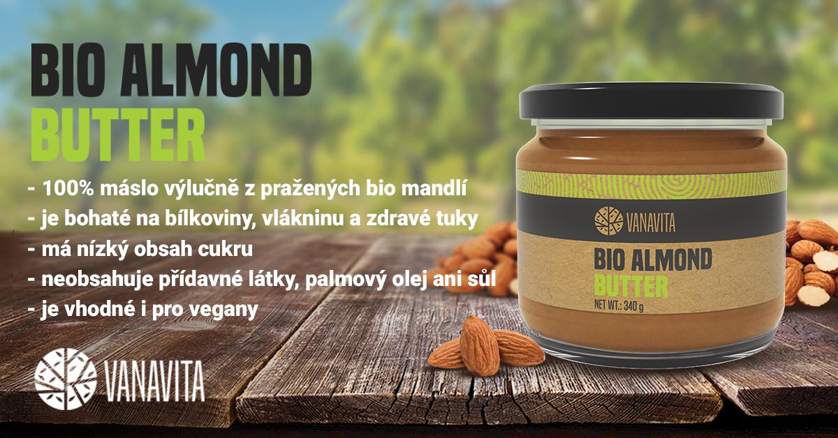 BIO Mandlové máslo - VanaVita