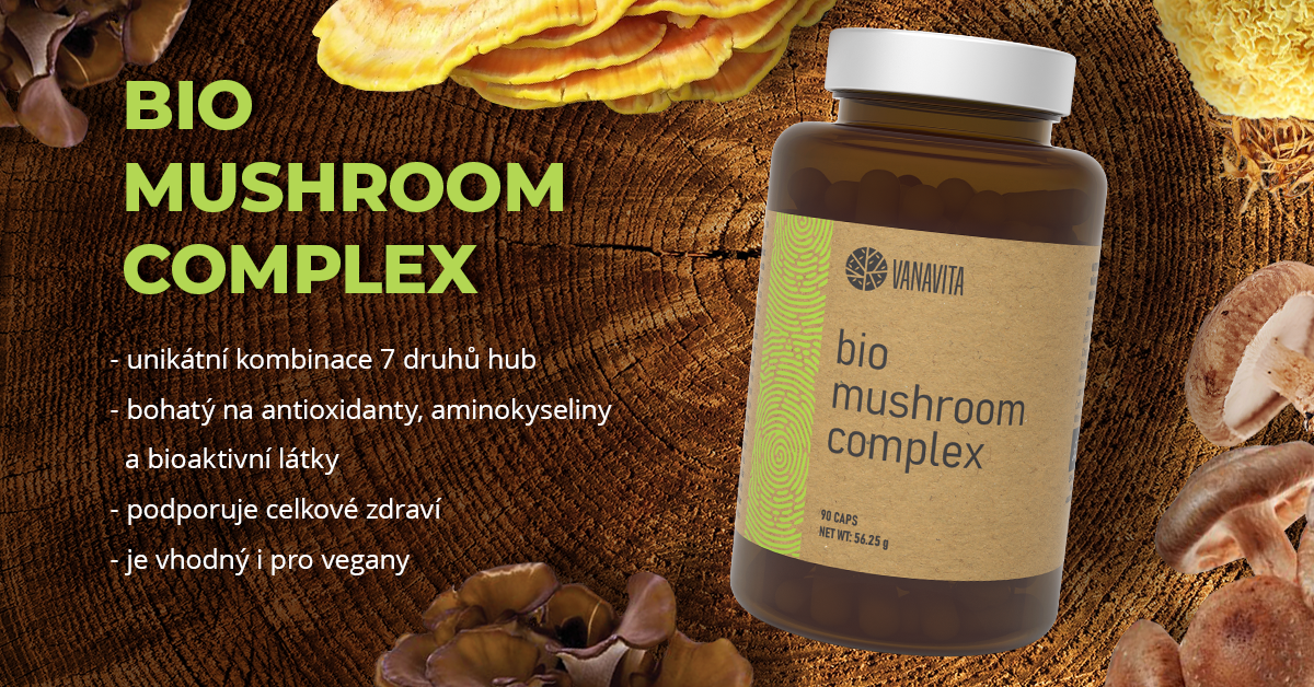 Extrakt z hub Bio Mushroom Complex - VanaVita