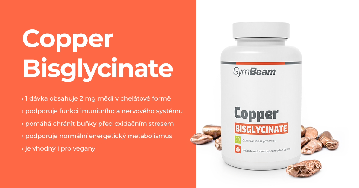 Bisglycinát měďnatý - GymBeam