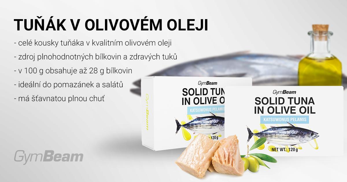Tuňák v olivovém oleji - GymBeam