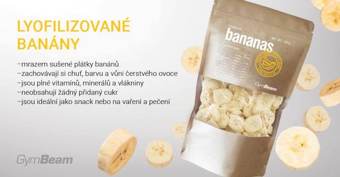 Lyofilizované banány - GymBeam