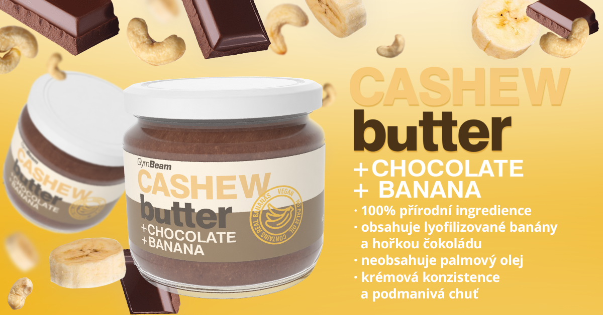 Kešu máslo s čokoládou a banánem - GymBeam