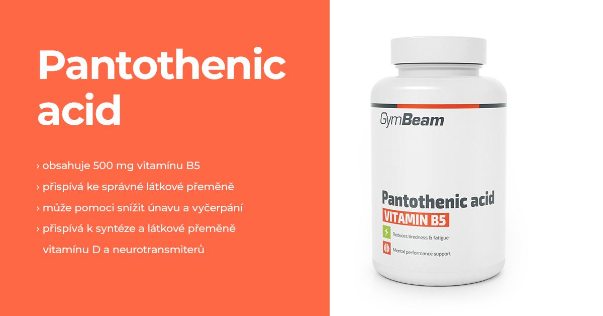 Kyselina pantotenová - GymBeam