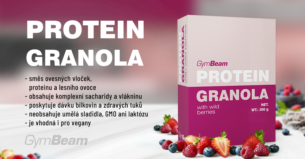Proteinová granola s lesním ovocem - GymBeam