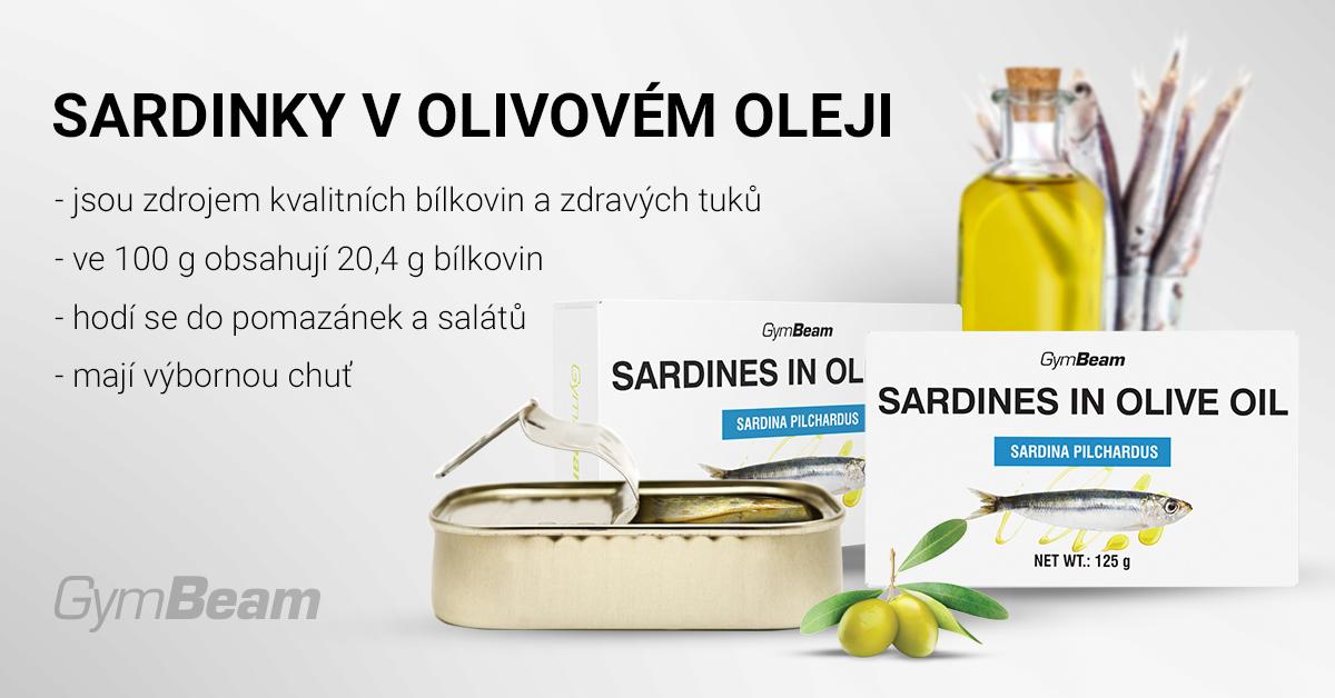 Sardinky v olivovém oleji - GymBeam