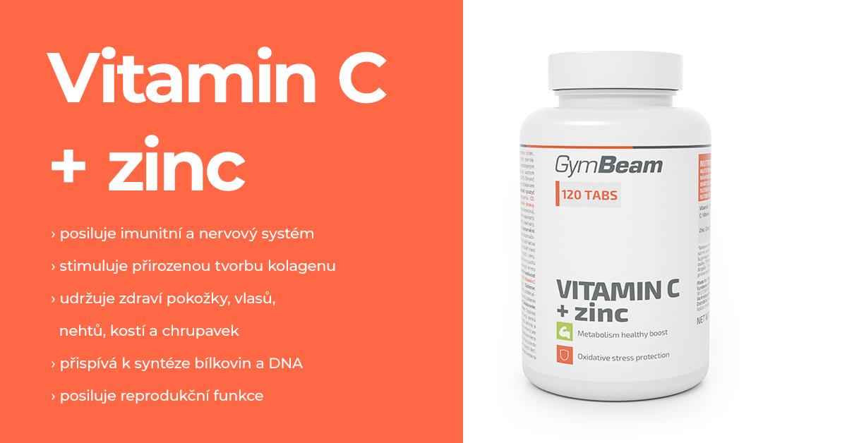 Vitamín C + zinek - GymBeam