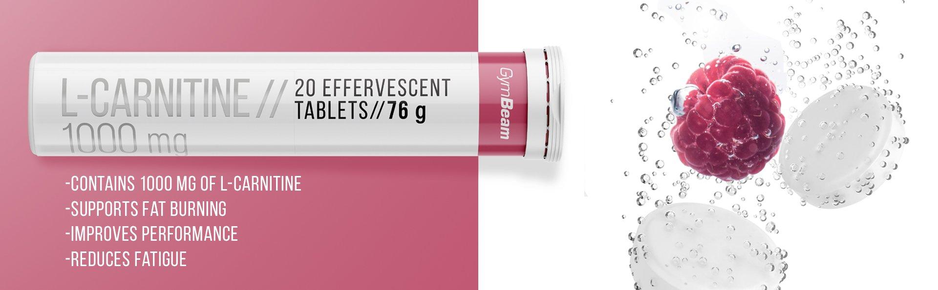L-Karnitin 1000 mg - GymBeam - 20 tabs
