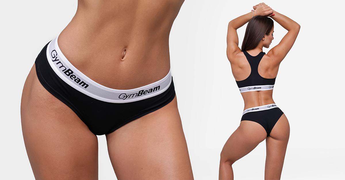 Kalhotky Briefs 3Pack Black - GymBeam