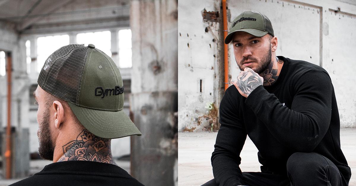 Kšiltovka Mesh Panel Cap Military Green - GymBeam