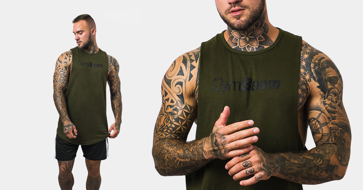 tilko Cut Off Military Green - Gym Beam