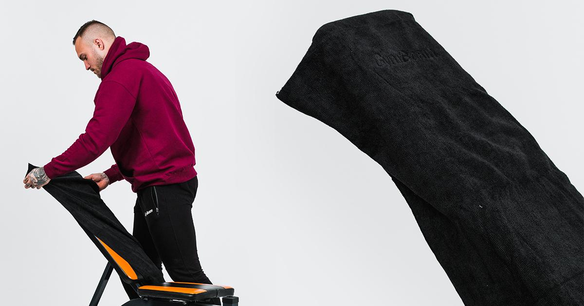 Sportovní ručník z mikrovlákna Large Black - GymBeam