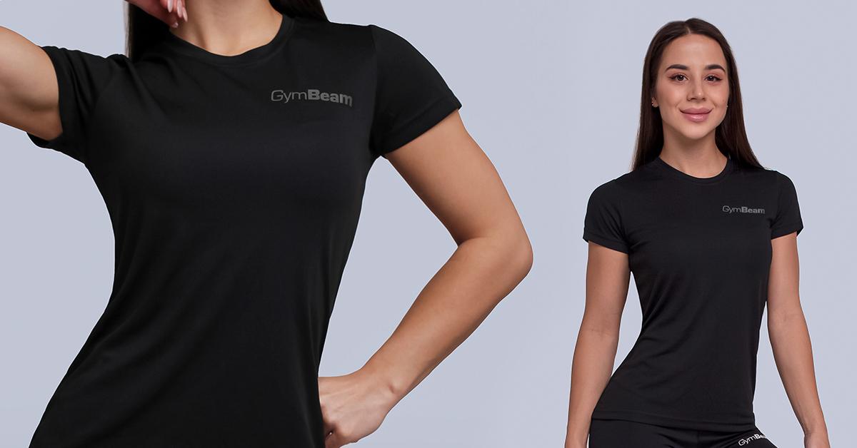 Dámské Tričko TRN Black - GymBeam