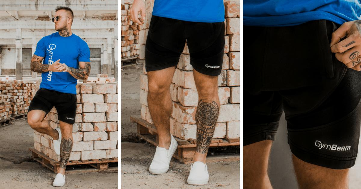 Stylové šortky Flexin Black gymbeam