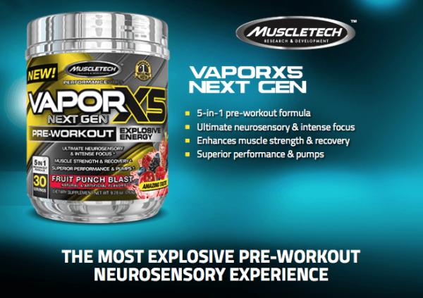 VaporX5 Next Gen předtréninkový stimulant